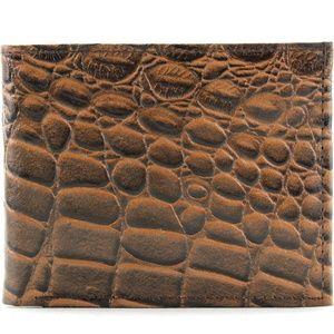 Slim Croc Bi Fold Wallet 528ZC